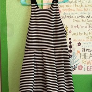 High neckline cross back dress